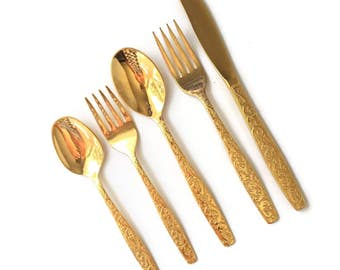 Gold Flatware Golden Scroll - Americana Golden Heritage by International Silver