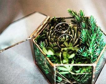 Glass Box, Jewelry Box, Glass Jewelry Box, Geometric Glass Box, Jewellery Box, Trinket Box, Display Box, Wedding Ring Box, Ring Box