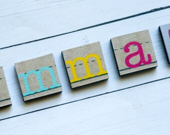 Personalized magnets - child's name magnets - kid's name magnets - fridge display - new baby gift - stocking stuffer