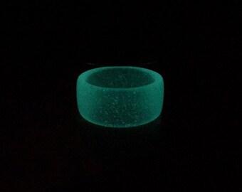 Glow In The Dark Resin Ring-Aqua