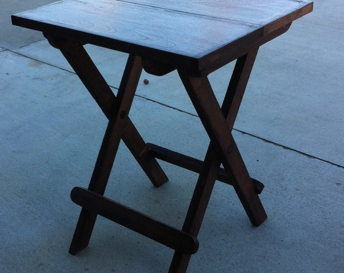 """Featured listing image: Fold up table 16"""" x 15"""" x 20"""" high"""