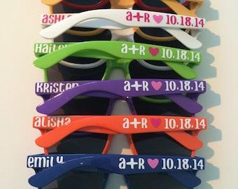 Bachelorette Party Favor, Personlized Sunglasses, Wedding Favor, Bachelorette Gift, Bachelorette Favor, Bridesmaid Gift, Squad