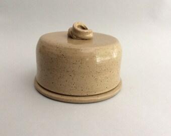 Light Stoneware Butter Keeper