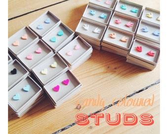 Valentine's Lasercut Heart + Swallow Stud Earrings