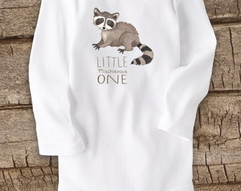 Cute Baby bodysuit, Unique Baby clothes, Baby one piece, Animal Baby Clothes, Raccoon baby, Raccoon baby shower, Baby clothing, Raccoon