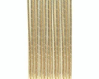 Set of 10 straws - gold paper straws birthday - wedding