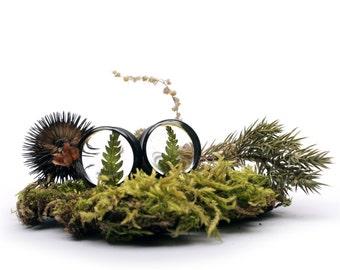 fern plugs - plugs with flowers - ear plugs - handmade plugs - organic plugs - gauges - floral gauges - Resin Plugs - 22mm 25mm 32mm 36mm