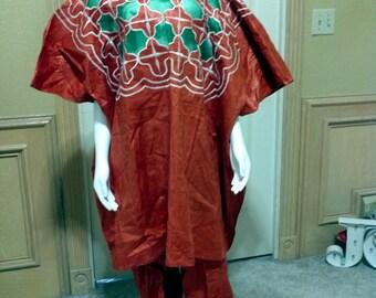 Vintage Embroiddered costume traditionnel africain pour femme ethnique folklorique vêtements vêtements /Dashiki Buba ensemble/Cocktail /partie /Fiesta /Tribal porter L