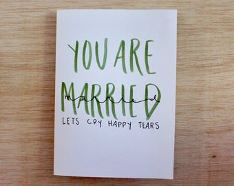You Are Married Greeting Card