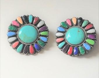 Multi Stone Sterling Earrings