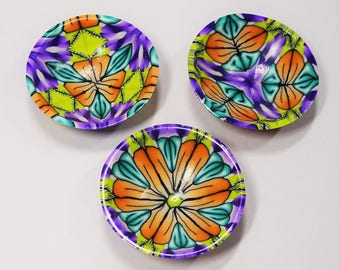 Doll's House Bowls Tutorial, Polymer Clay Tutorial, PDF Tutorial, Miniature Bowls Tutorial, Kaleidoscoped Bowls Tutorial, Code : DHBTut.