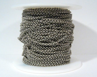 25ft 2.0mm Rolo Chain - Antique Silver - 2.0mm Links - CH48