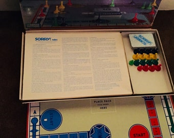 Sorry Game from Parker Brothers - 1972 -Complete
