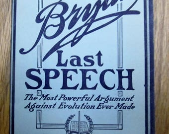Book, soft cover, Bryants Last speech
