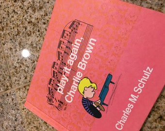 Play iy again Charlie Brown  BOOK by charles Schulz 1971