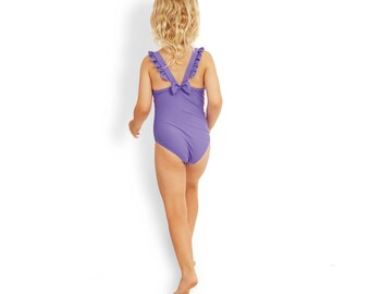 Toddler Girls one piece swimwear matching with mommy's. Made with UPF50+ Italian fabric. - Penelope