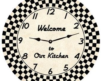Retro Clock- personalized clock