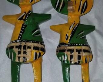 African Fertility Dolls Set of 2