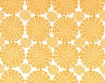 Yellow fabric by the yard - Ashton Road marigold fabric - lemon fabric - geometric fabric - yellow and white fabric - Robert Kaufman #16465