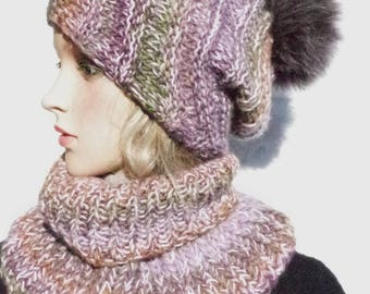 Woolset: Merino hat with/without genuine Fellbommel and loop
