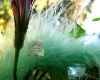 Pistachio Mint Marabou Boa Feathers