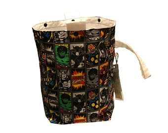 Classic Marvel Comics Heroes Project Bag Bucket Bag size extra tall