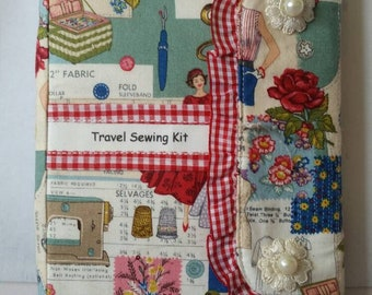 Handy unique tri fold sewing book A5 size. (Contents not included)