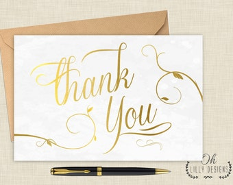 Thank You Card, Greeting Card, All occasion card - INSTANT Download, Printable Thank You Card, Digital File