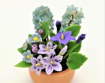 Great Hyacinth Handmade Miniature Polymer Clay Art Flowers for Dollhouse and Wedding Gifts