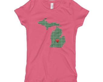 Girl's Heart MSU T-Shirt