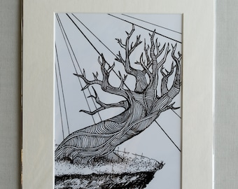 """A5 Mounted Print - """"Crooked"""""""