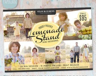 Lemonade Photography Marketing Board - Mini Sessions - IA001 - INSTANT Download