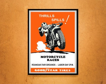 Reprint of a Motorcycle Racing Event Poster
