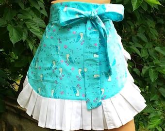 Handmade Apron // Owl Apron // Half Apron // Hostess Apron // Womans Gift //Ladies Gift // Kitchen Apron // Kitchen Apron