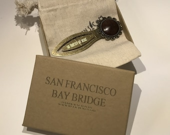 Historical Bookmark made of Redwood from the San Francisco Bay Bridge