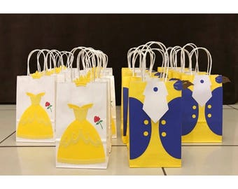 Beauty and the Beast Party Bags (Belle & Beast) | Beauty and the Beast Party | Belle Birthday | Belle party Bags | Princess Party