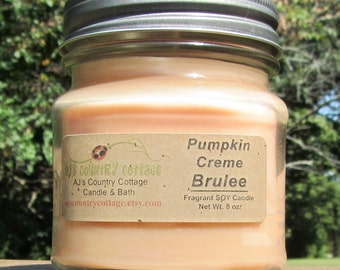 PUMPKIN CREME BRULEE SoY Candle - Pumpkin Candles, Vanilla Candles, Cinnamon Candles, Spice Candles, Caramel Candles, Autumn Fall Candles