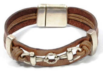 FATHERS DAY GIFT brown snaffle bit bracelet, country girl jewelry, country western jewelry, equestrian jewelry, cowgirl jewelry, horse brace