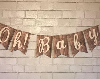 Oh! Baby Banner - Baby Shower