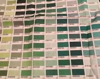 Jane Walker 1100 color chart cotton quilt fabric 1 yard