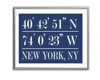 SALE-Latitude & Longitude- Digital Print- Wall Art- Digital Designs- Home Decor- Gallery Wall-Coordinates Prints- Customized Wall Art