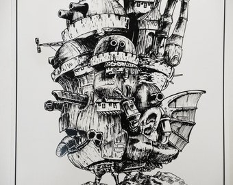 Howl's moving castle (print)