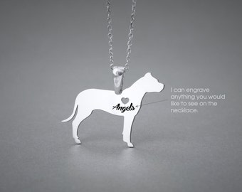 DOGO ARGENTINO NAME Necklace - Dogo Argentino Name Jewelry - Personalised Necklace - Dog breed Necklace- Dog Necklace