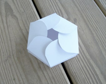 Printable Gift Box Hexagon Petals Wedding Favor Box Template Digital