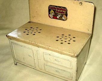 Little Orphan Annie Vintage Toy Stove - 1940s Tin Toy