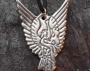 Archangel Michael - Pewter Pendant - Angel Amulet, Heaven Healing Jewelry
