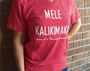 Because It's Hawaii Somewhere Mele Kalikimaka Christmas Shirt