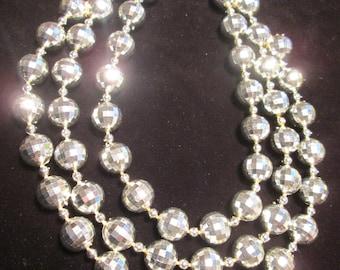 1960's Plastic Disco Ball Necklace