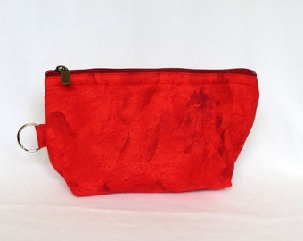 Zip Pouch - Red - small
