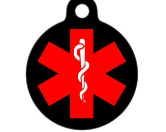 Medical ID Tag - Medical Alert ID Tag, Child ID Tag, Pet Tag, Dog Tag, Cat Tag